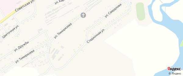 Стадионная улица на карте Юрюзани с номерами домов
