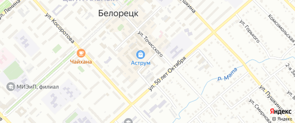 Базарный переулок на карте Белорецка с номерами домов