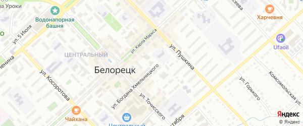 Сад N2 Родник на карте Белорецка с номерами домов