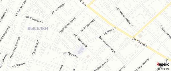 Переулок Морозова на карте Белорецка с номерами домов