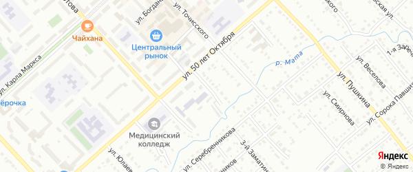 Улица Калинина на карте Белорецка с номерами домов