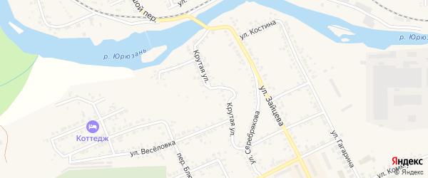 Крутая улица на карте Юрюзани с номерами домов