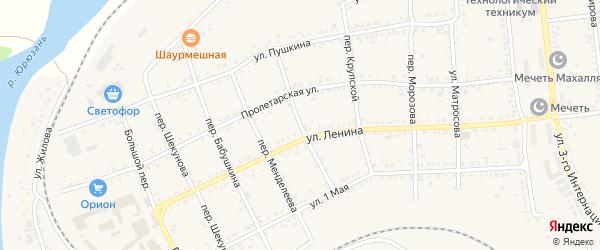 Переулок Павлова на карте Юрюзани с номерами домов
