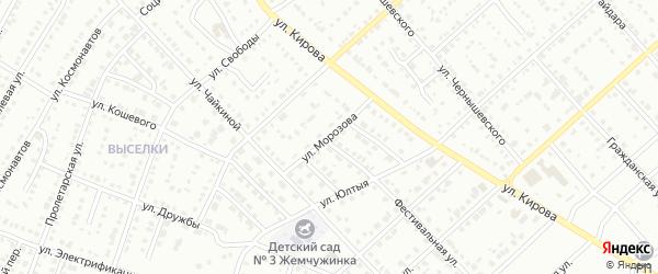 Улица Морозова на карте Белорецка с номерами домов