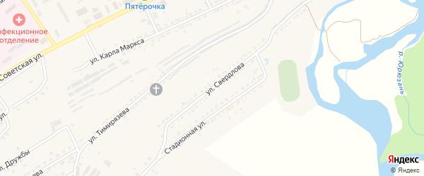 Улица Свердлова на карте Юрюзани с номерами домов