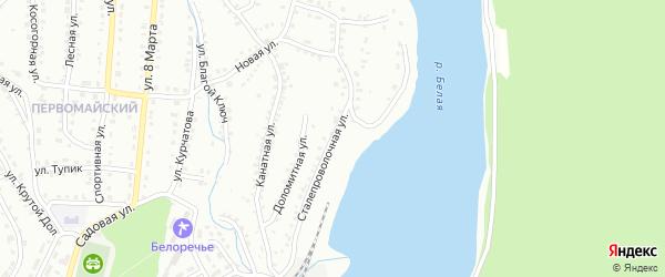 Сталепроволочная улица на карте Белорецка с номерами домов