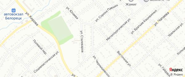 Магнитогорская улица на карте Белорецка с номерами домов