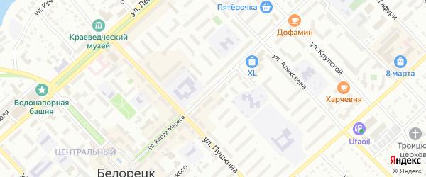 Улица Карла Маркса на карте Белорецка с номерами домов