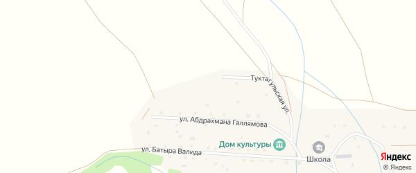 Туктагульская улица на карте села Кусеево с номерами домов