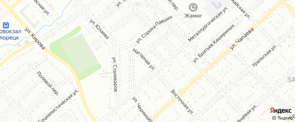 Нагорная улица на карте Белорецка с номерами домов