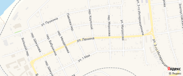 Улица Ленина на карте Юрюзани с номерами домов