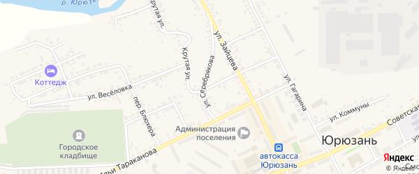 Заводская улица на карте Юрюзани с номерами домов