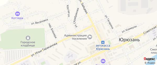 Улица Серебрякова на карте Юрюзани с номерами домов