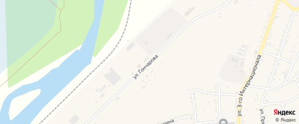Улица Гончарова на карте Юрюзани с номерами домов