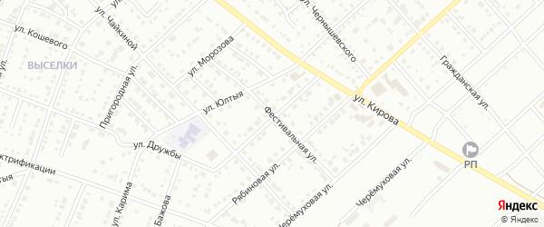 Фестивальная улица на карте Белорецка с номерами домов