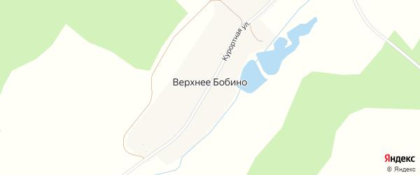Курортная улица на карте деревни Верхнее Бобино с номерами домов