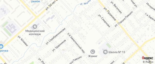 Суворова 2-й переулок на карте Белорецка с номерами домов