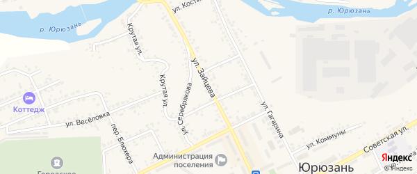 Улица Зайцева на карте Юрюзани с номерами домов