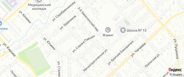 Пионерская улица на карте Белорецка с номерами домов