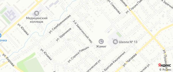 Заматинский 3-й переулок на карте Белорецка с номерами домов