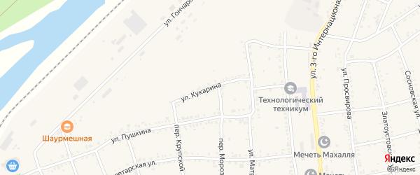 Улица Кукарина на карте Юрюзани с номерами домов