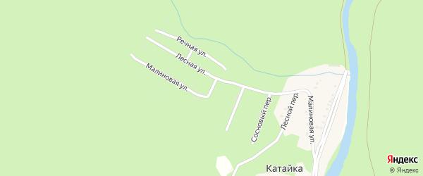 Дачная улица на карте деревни Катайки с номерами домов