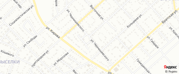 Улица Чернышевского на карте Белорецка с номерами домов
