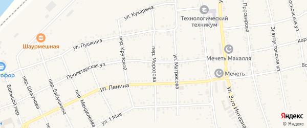 Переулок Морозова на карте Юрюзани с номерами домов
