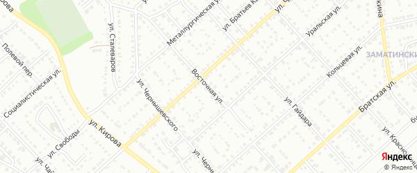 Восточная улица на карте Белорецка с номерами домов