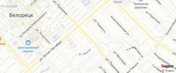 Улица Пушкина на карте Белорецка с номерами домов