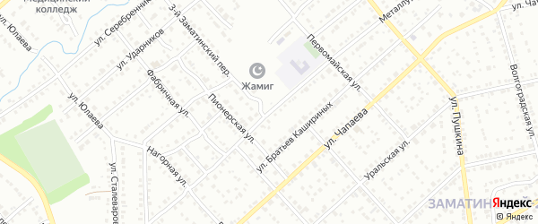 Металлургическая улица на карте Белорецка с номерами домов