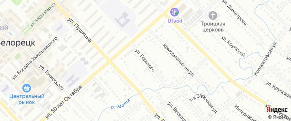 Улица Горького на карте Белорецка с номерами домов