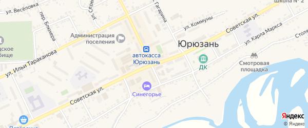 Советская улица на карте Катава-Ивановска с номерами домов