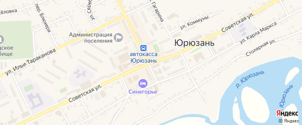 Советская улица на карте села Верх-Катавка с номерами домов