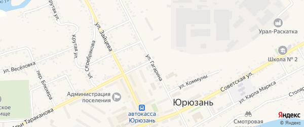 Улица Гагарина на карте Катава-Ивановска с номерами домов
