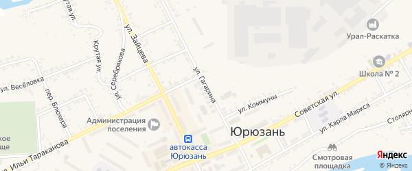 Улица Гагарина на карте Юрюзани с номерами домов