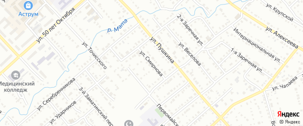Улица Смирнова на карте Белорецка с номерами домов