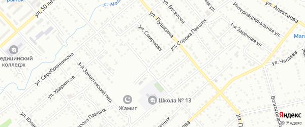 Улица Сорока Павших на карте Белорецка с номерами домов