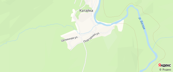 Карта деревни Катайки в Башкортостане с улицами и номерами домов