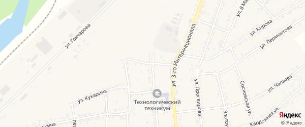 Школьный переулок на карте Юрюзани с номерами домов