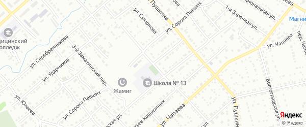 Индустриальная улица на карте Белорецка с номерами домов