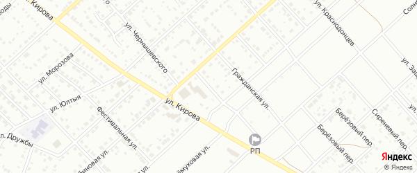 Солнечный переулок на карте Белорецка с номерами домов