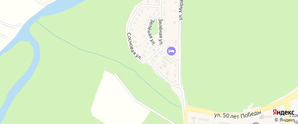 Сосновая улица на карте Трехгорного с номерами домов