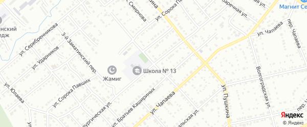 Первомайская улица на карте Белорецка с номерами домов