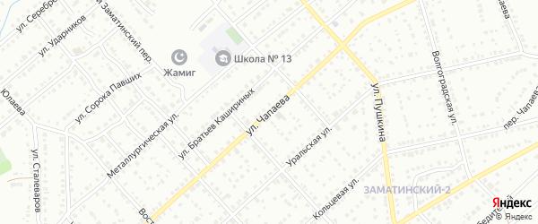 Улица Чапаева на карте Белорецка с номерами домов