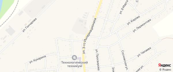 Улица 3 Интернационала на карте Юрюзани с номерами домов