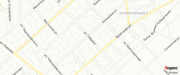 Улица Гайдара на карте Белорецка с номерами домов