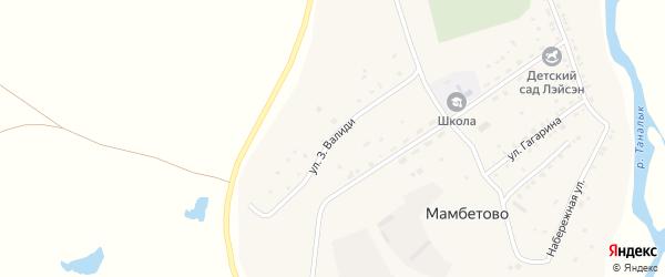 Улица Валиди на карте деревни Мамбетово с номерами домов