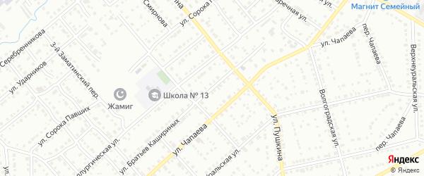 Улица Братьев Кашириных на карте Белорецка с номерами домов