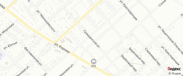 Гражданская улица на карте Белорецка с номерами домов